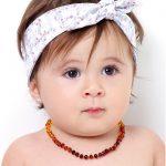 Colar de âmbar bebê barroco rainbow polido - 33 cm