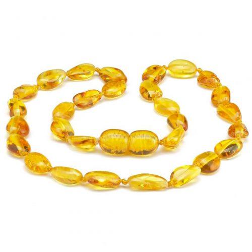 Colar de âmbar bebê olive mel polido - 33 cm